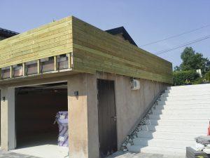Bygging av ny terrasse og ny trapp, Holmenkollen