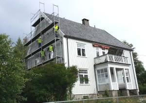 Renova - Maler hus i Heggeliveien, sommer 2013